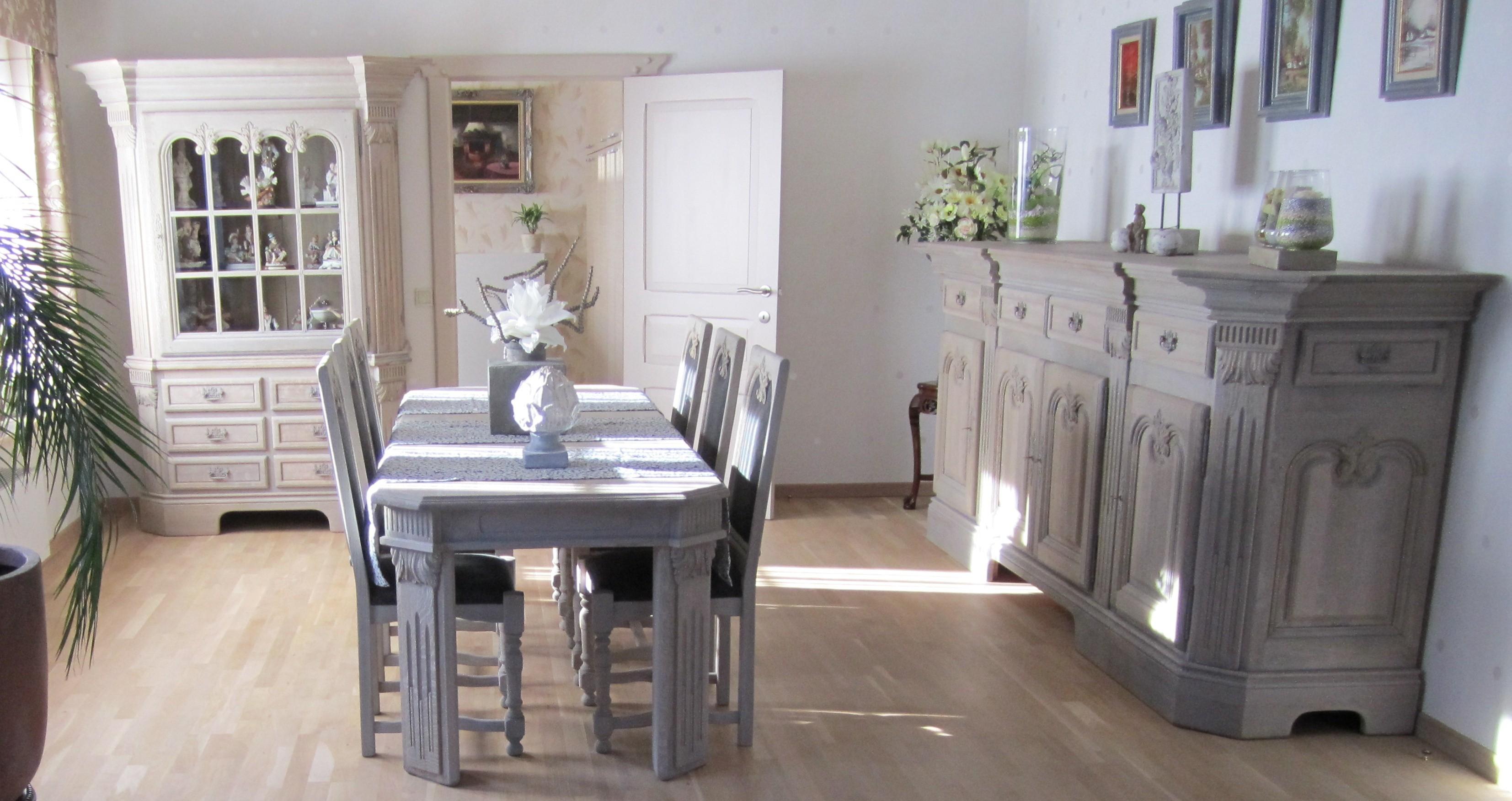 Keuken Fineer Verven : Renovatie van een eiken eetplaats