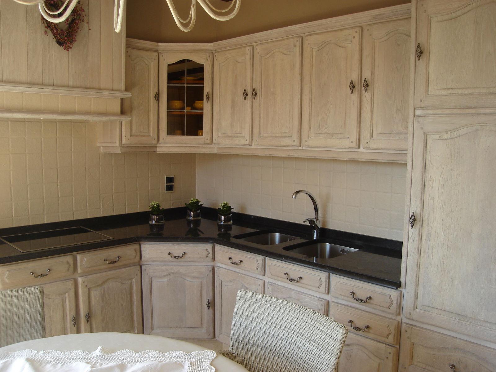 Witte Eiken Keuken : Meubelrenovatie.be - Bedrijf